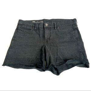 MADEWELL Black Jean Denim Shorts Mid-Rise Size 27